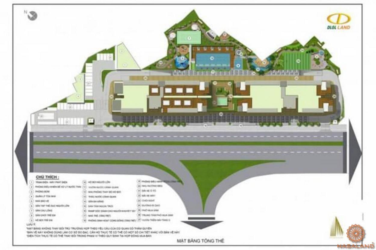 Mặt bằng dự án căn hộ Đức Long Golden Land quận 7