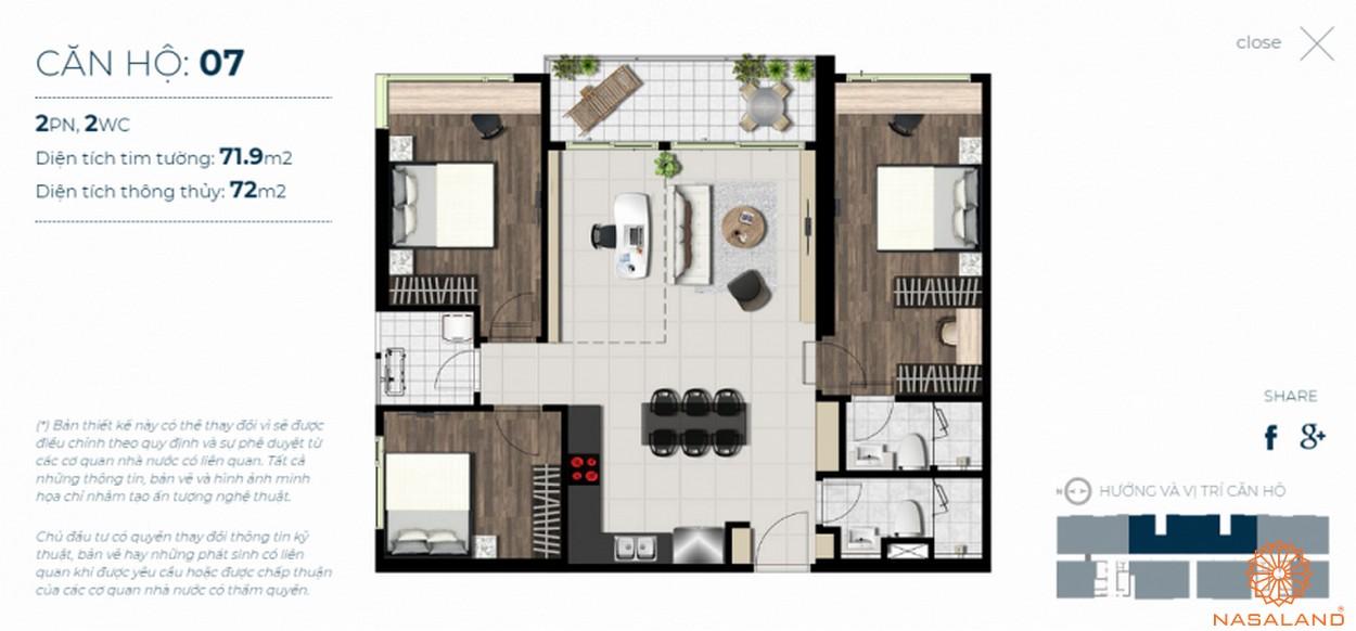 Mặt bằng căn hộ Sky 89 quận 7 mẫu 7