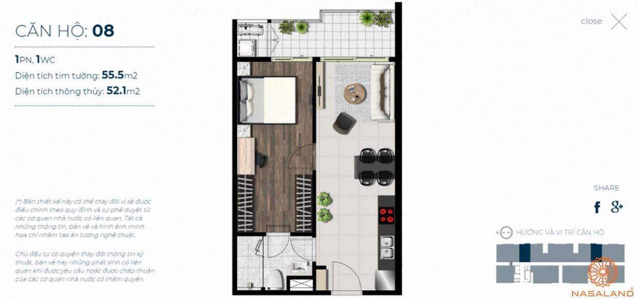 Mặt bằng căn hộ Sky 89 quận 7 mẫu 8