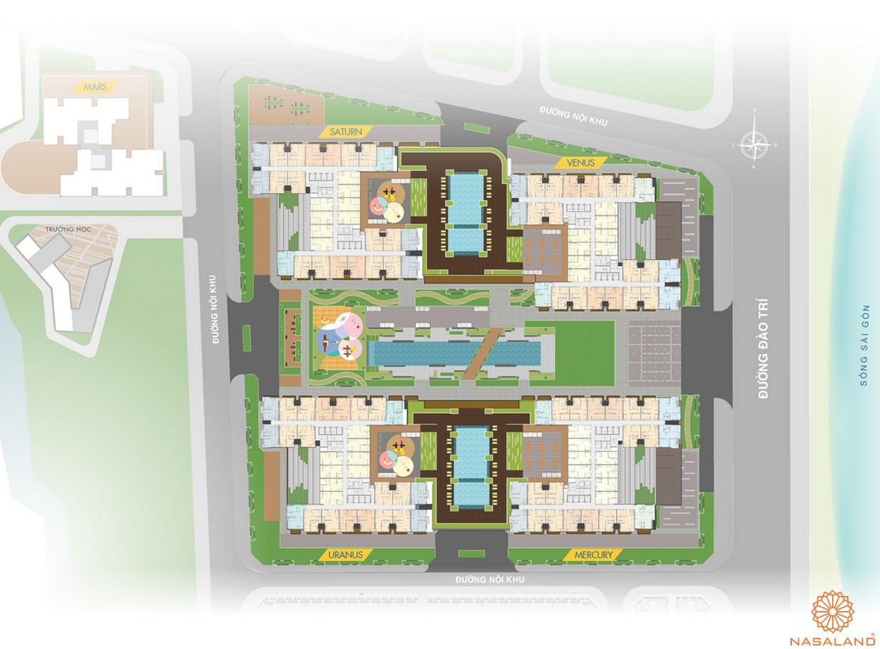 Mặt bằng điển hình dự án căn hộ Q7 Saigon Riverside Complex quận 7