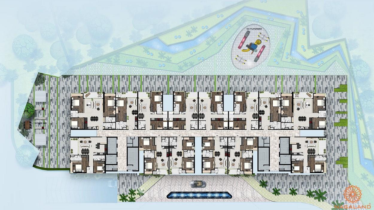 Mặt bằng căn hộ Sky 89 quận 7 tầng điển hình