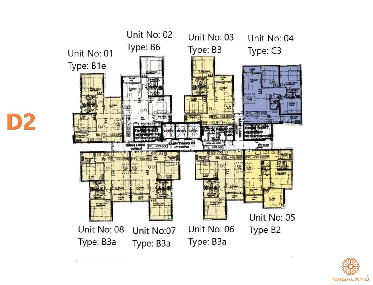 Mặt bằng dự án căn hộ The Habitat Bình Dương - Block D2
