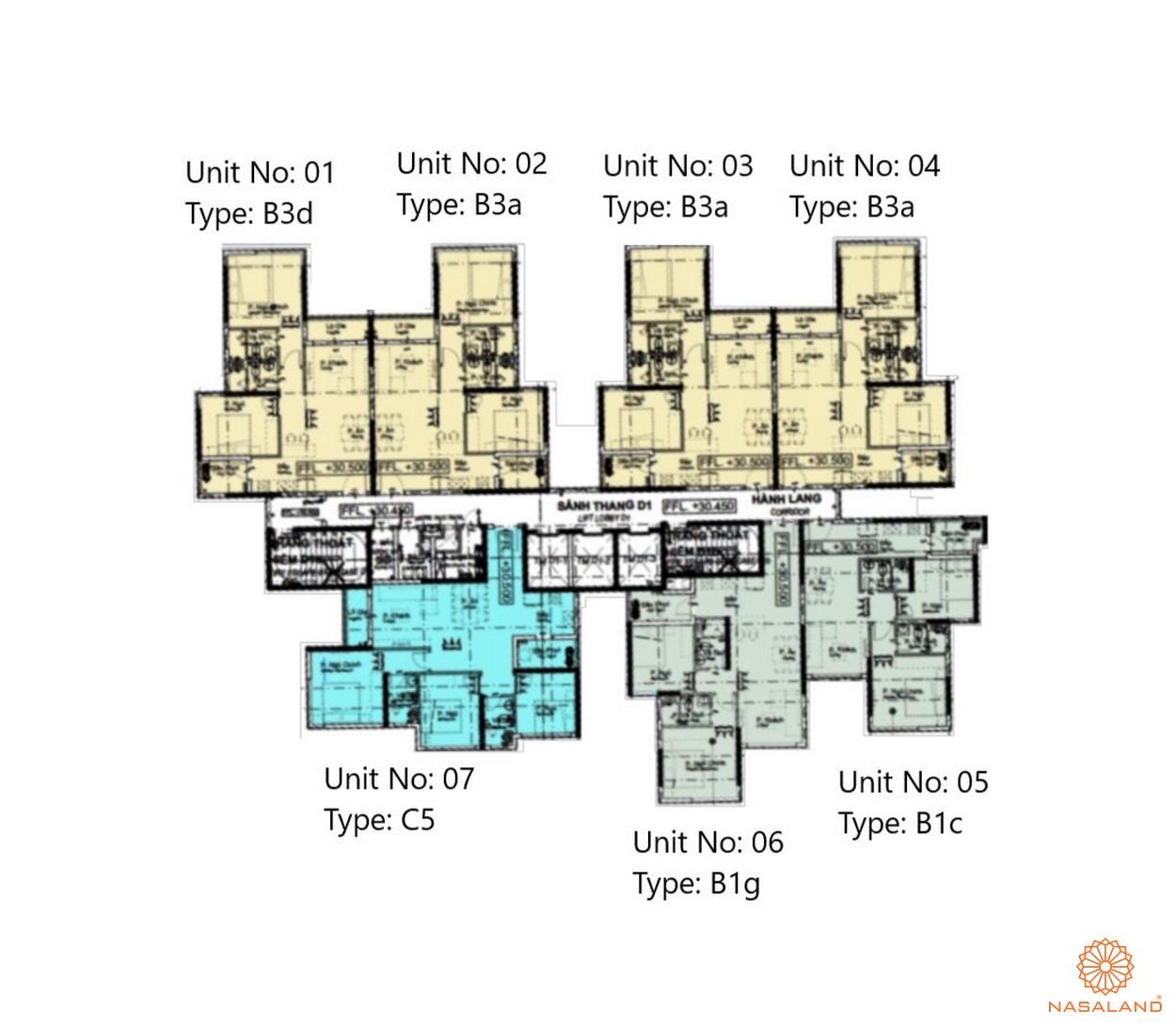 Mặt bằng dự án căn hộ The Habitat Bình Dương - Block D3