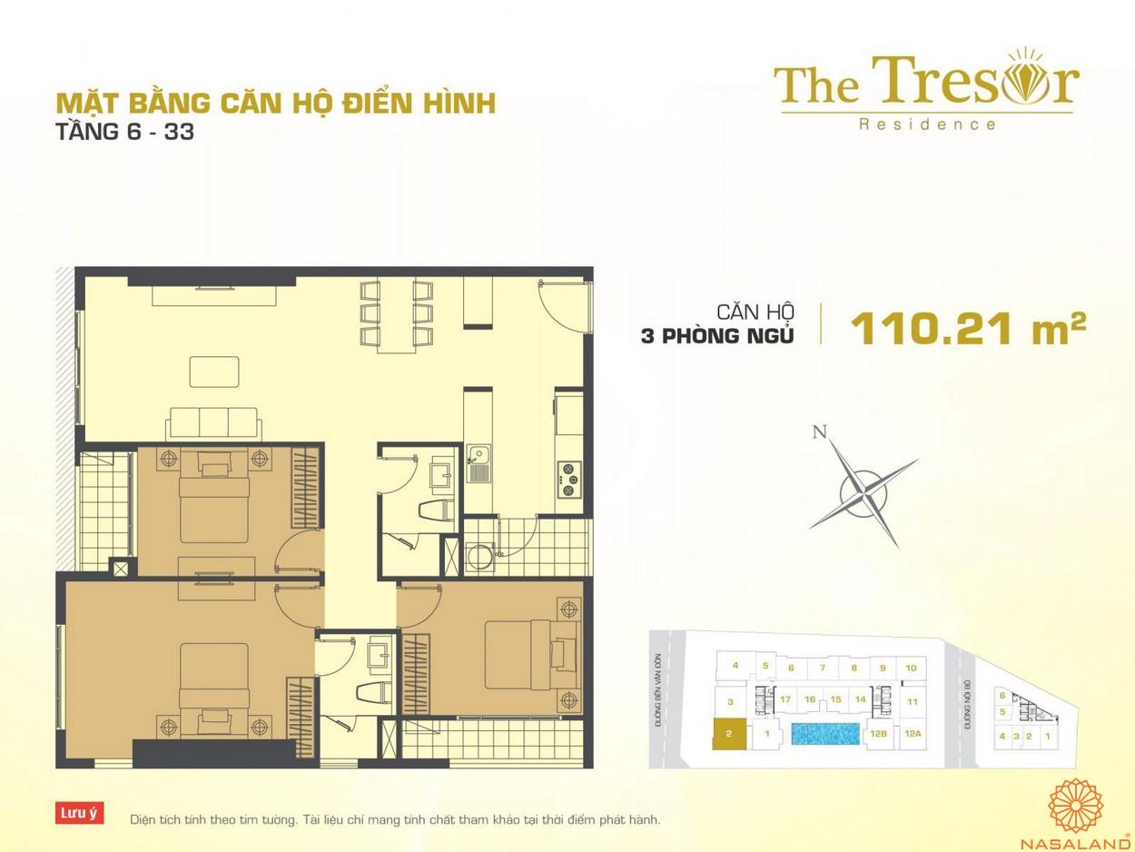 The Tresor Novaland căn hộ điển hình 3PN tầng 6-33 1