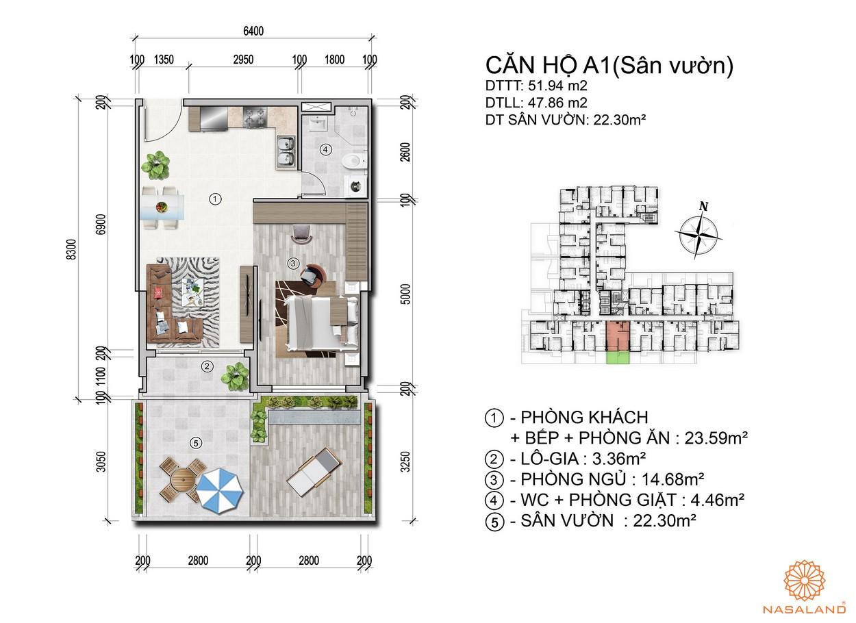 Mặt bằng dự án căn hộ Venus Luxury - căn hộ A1