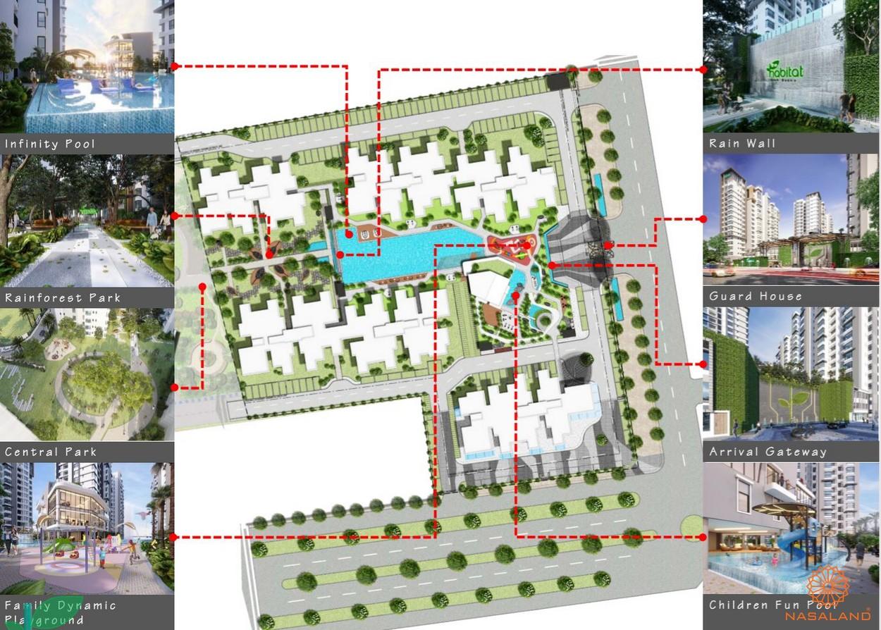 Mặt bằng tiện ích dự án căn hộ The Habitat Bình Dương