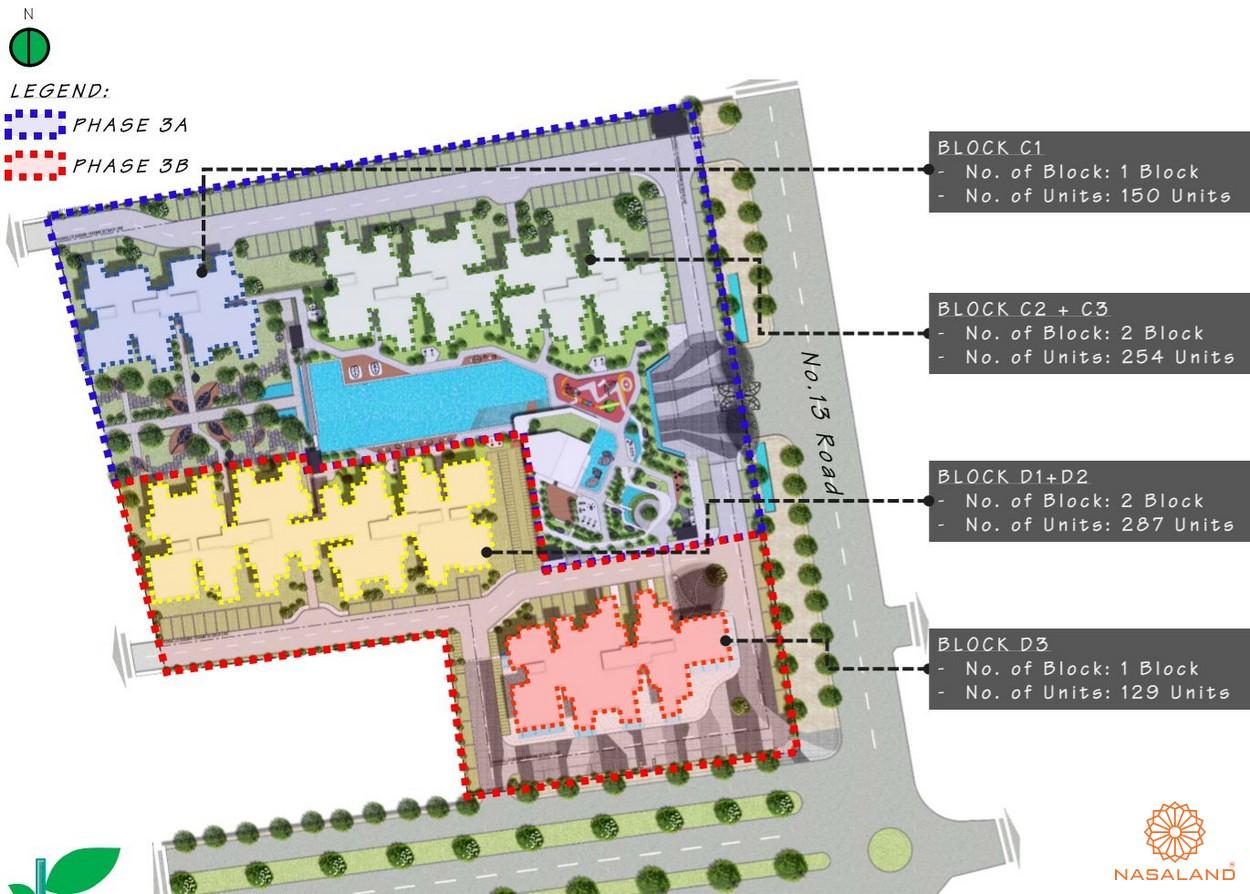 Mặt bằng tổng thể dự án căn hộ The Habitat Bình Dương