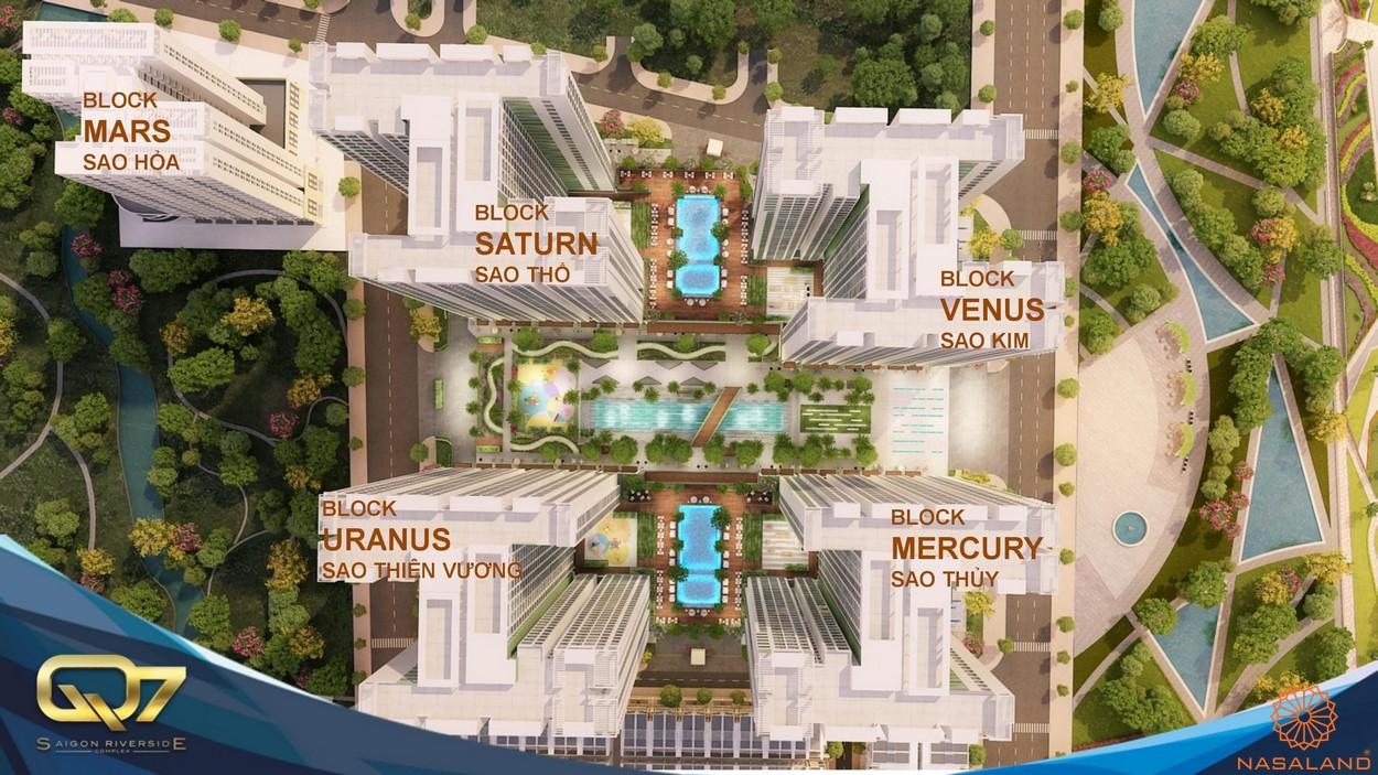 Mặt bằng tổng thể dự án căn hộ Q7 Saigon Riverside Complex quận 7