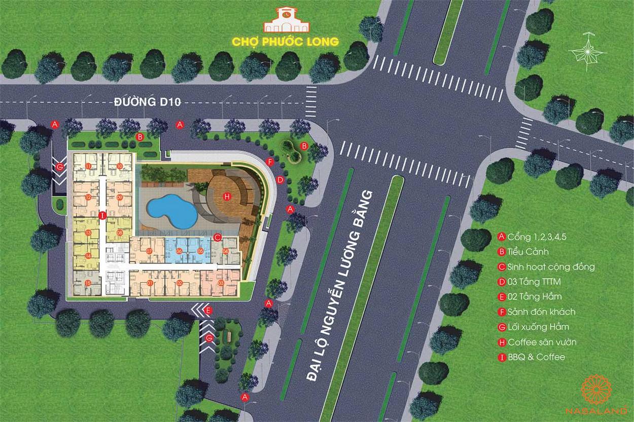 Mặt bằng tổng thể của dự án Viva Plaza