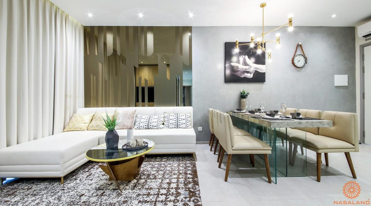 Nhà mẫu phòng khách + phòng ăn dự án Charmington Dragonic quận 5
