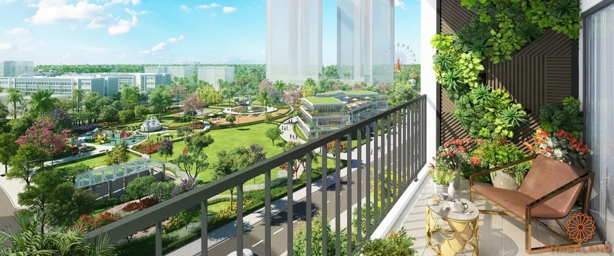 Nhà mẫu view ban công nhìn ra công viên 3ha căn hộ chung cư Eco Green Sà Gòn quận 7