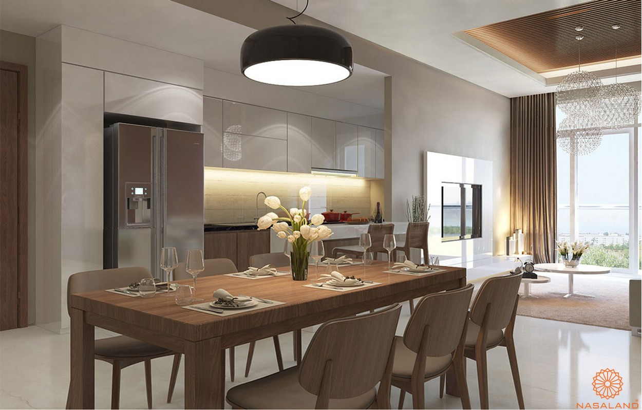 Nhà mẫu căn hộ Lux Star quận 7 gian bếp ấm cúng