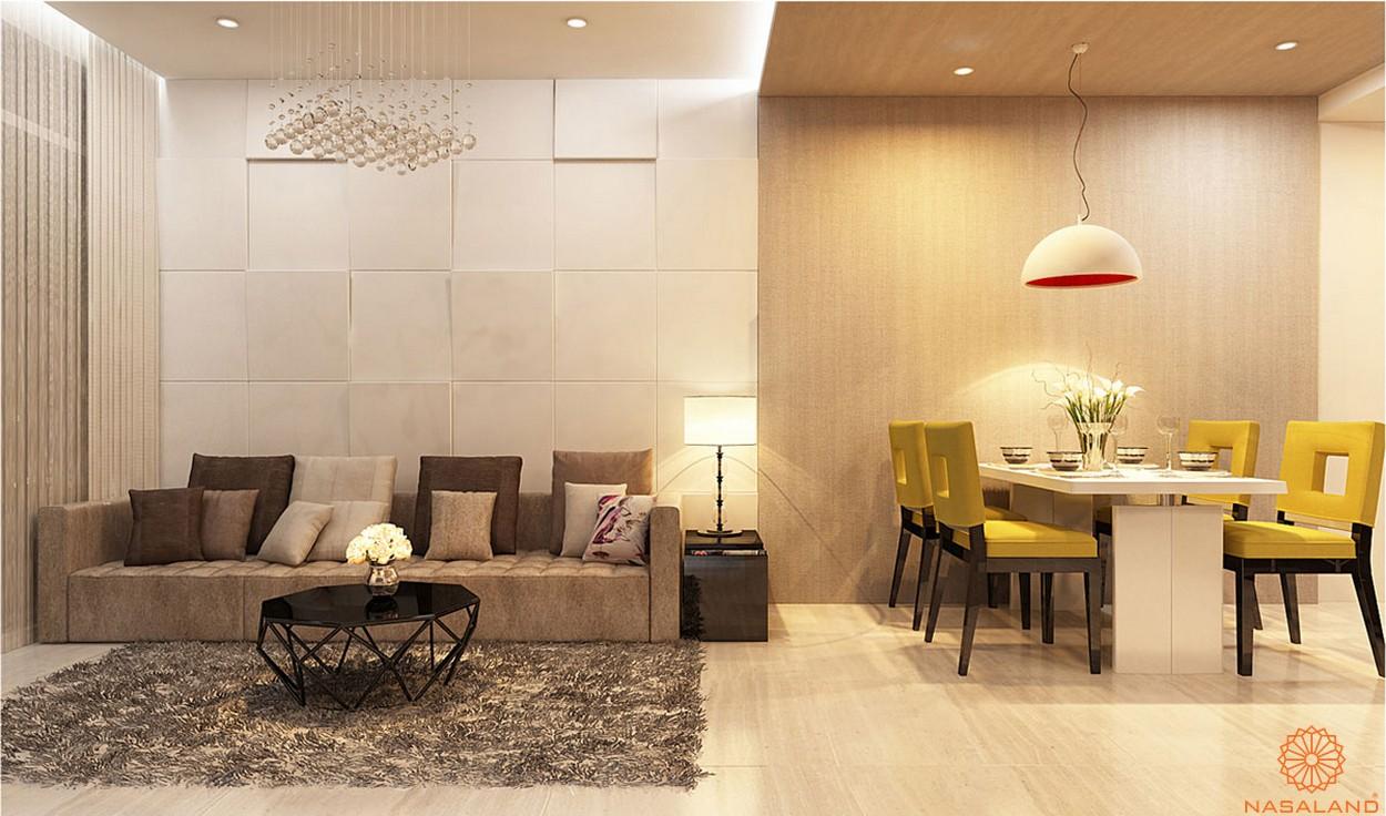 Nhà mẫu căn hộ Lux Star quận 7 phòng khách hiện đại