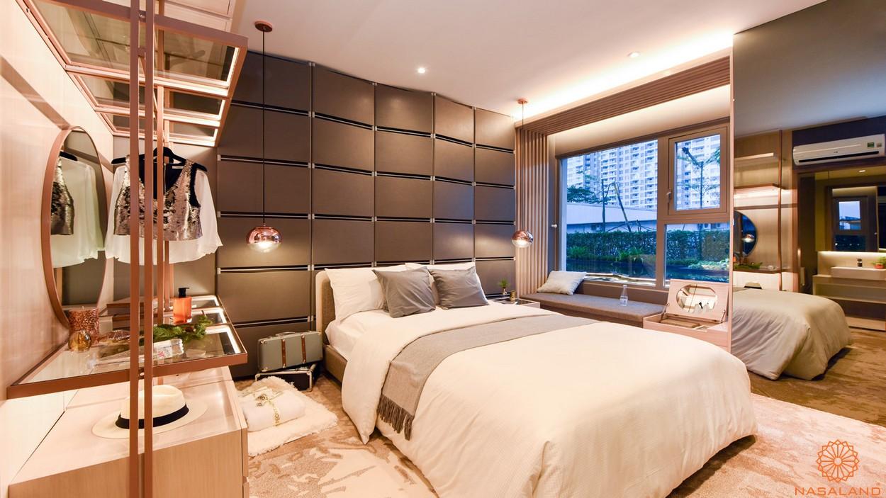 Nội thất phòng ngủ căn 2PN dự án căn hộ River Panorama quận 7