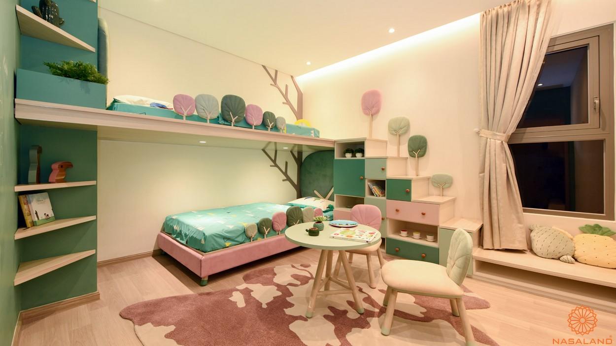 Nội thất phòng ngủ trẻ em căn 2PN dự án căn hộ River Panorama quận 7