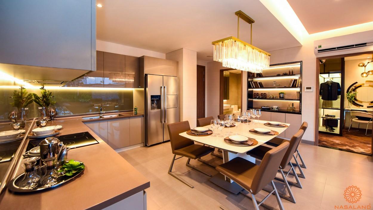 Nội thất phòng khách căn 3PN dự án căn hộ River Panorama quận 7
