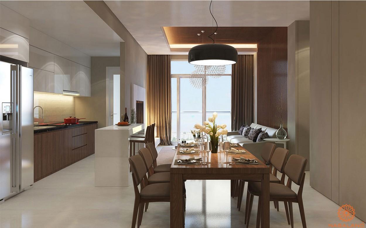 Nội thất căn hộ Lux Star quận 7 phòng khách