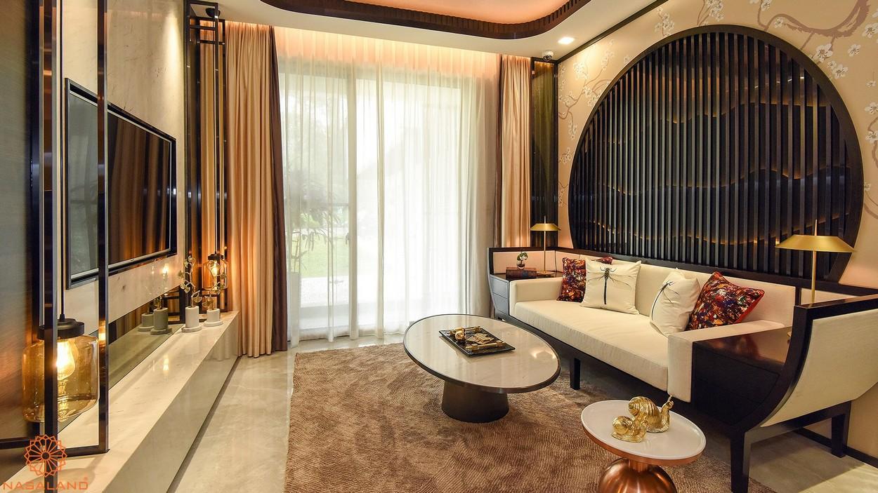 Nội thất phòng khách căn hộ The Symphony Phú Mỹ Hưng quận 7