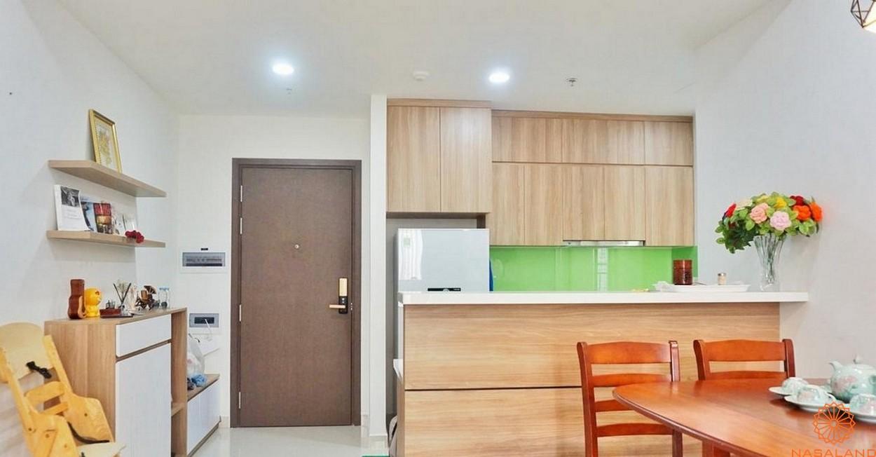 Nội thất phòng bếp dự án căn hộ The Tresor quận 4