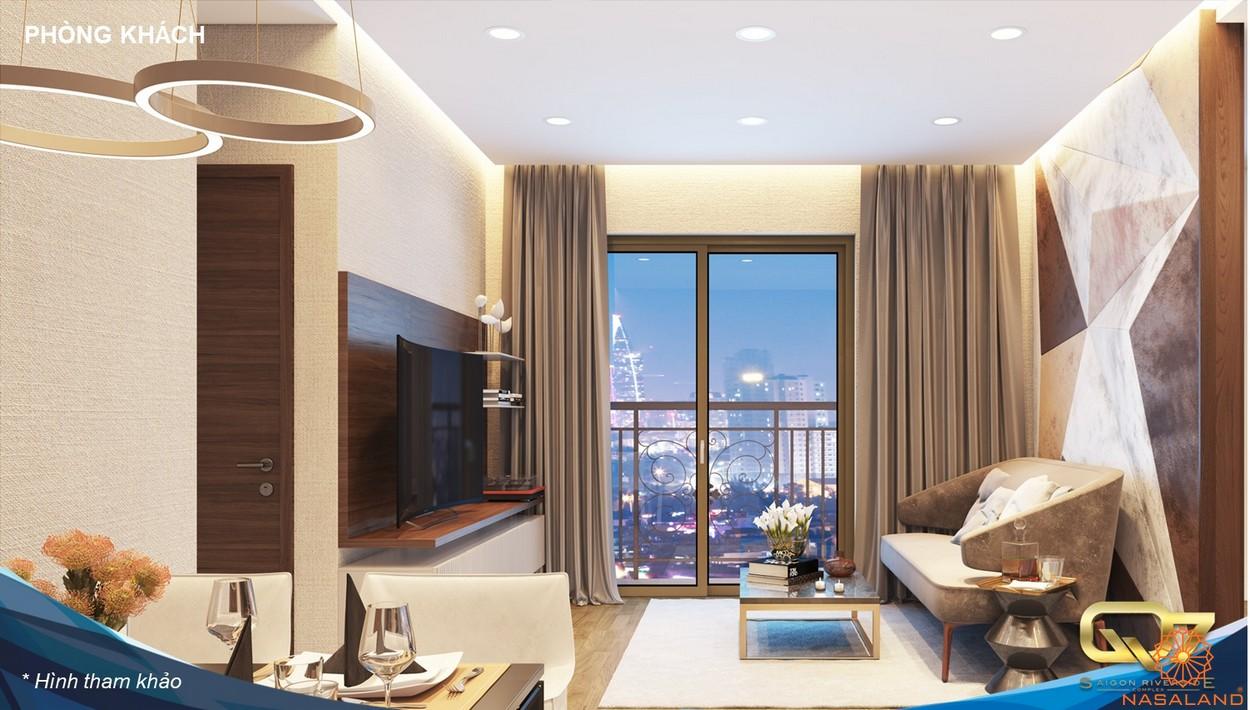 Nội thất phòng khách Saigon Riverside Complex quận 7