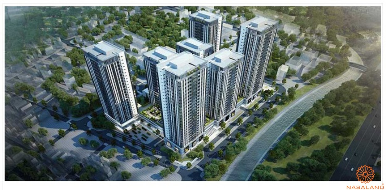 Phối cảnh tổng thể dự án căn hộ The Blue Star quận 7