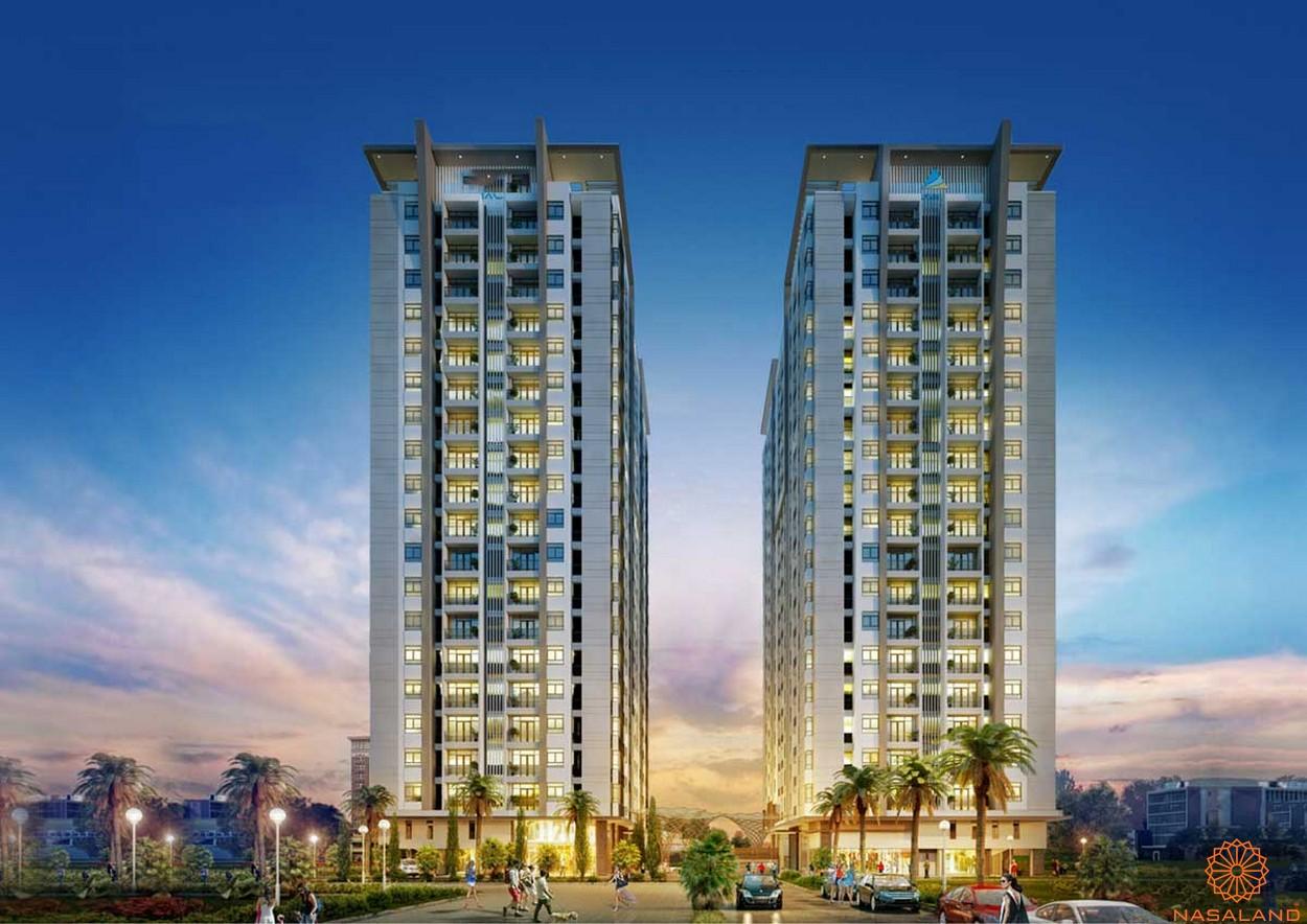 Phối cảnh tổng thể 2 block căn hộ Lux Star quận 7
