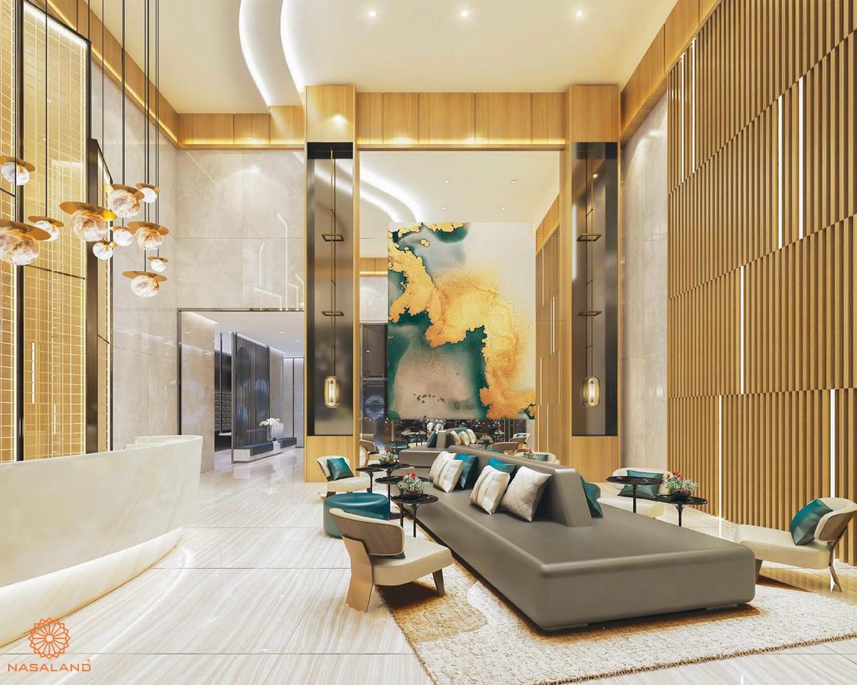 Tiện ích dự án Ascentia Phú Mỹ Hưng - sảnh chờ rộng rãi cùng ghế salon