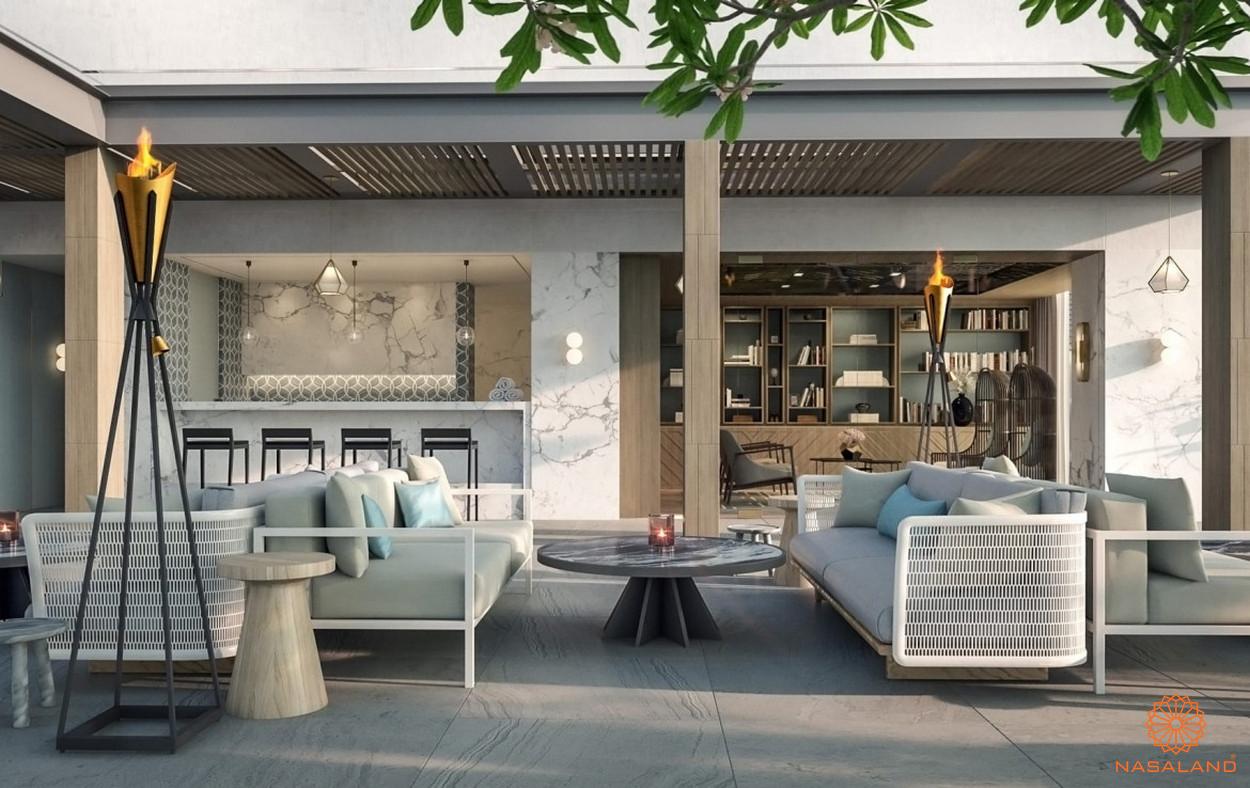 Thiết kế .căn hộ The Vertex Private Residences quận 1 - sảnh sân vườn