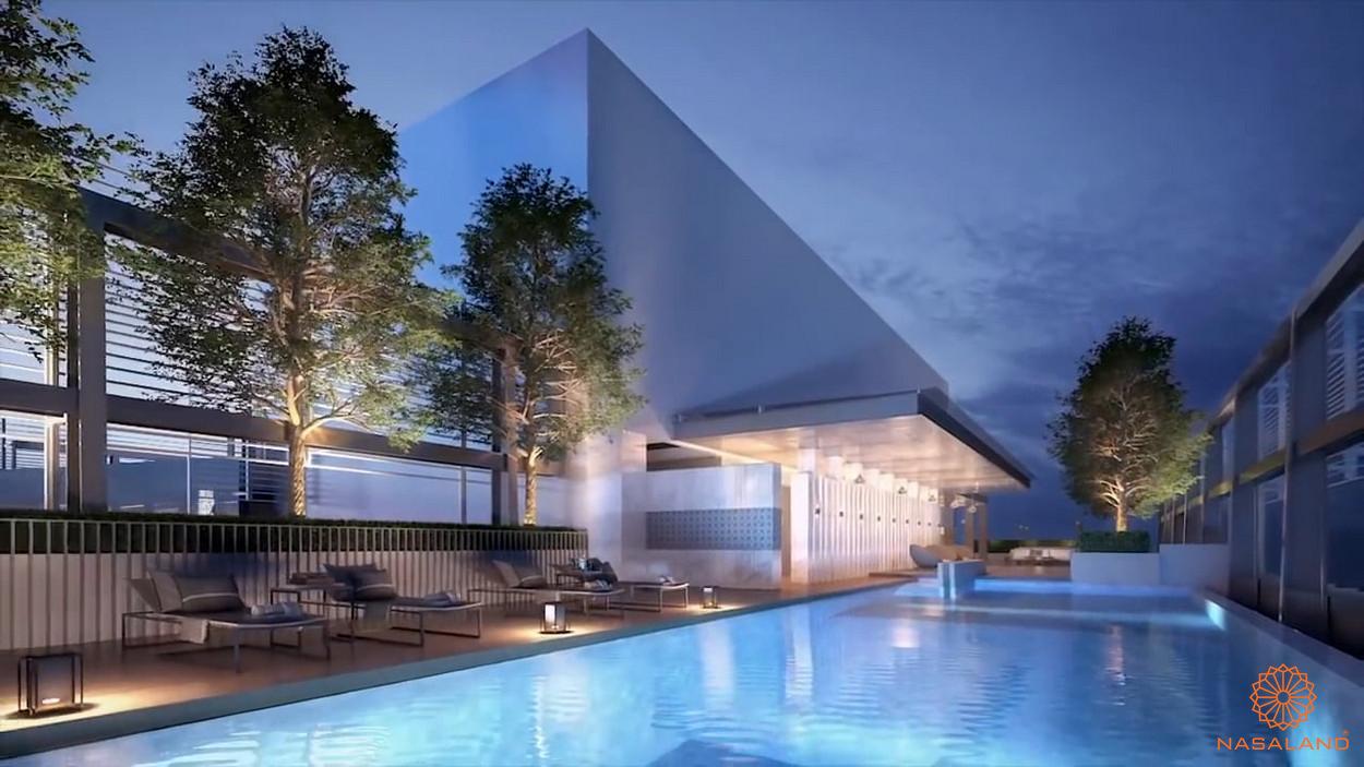 Tiện ích căn hộ The Vertex Private Residences quận 1 - hồ bơi trên cao