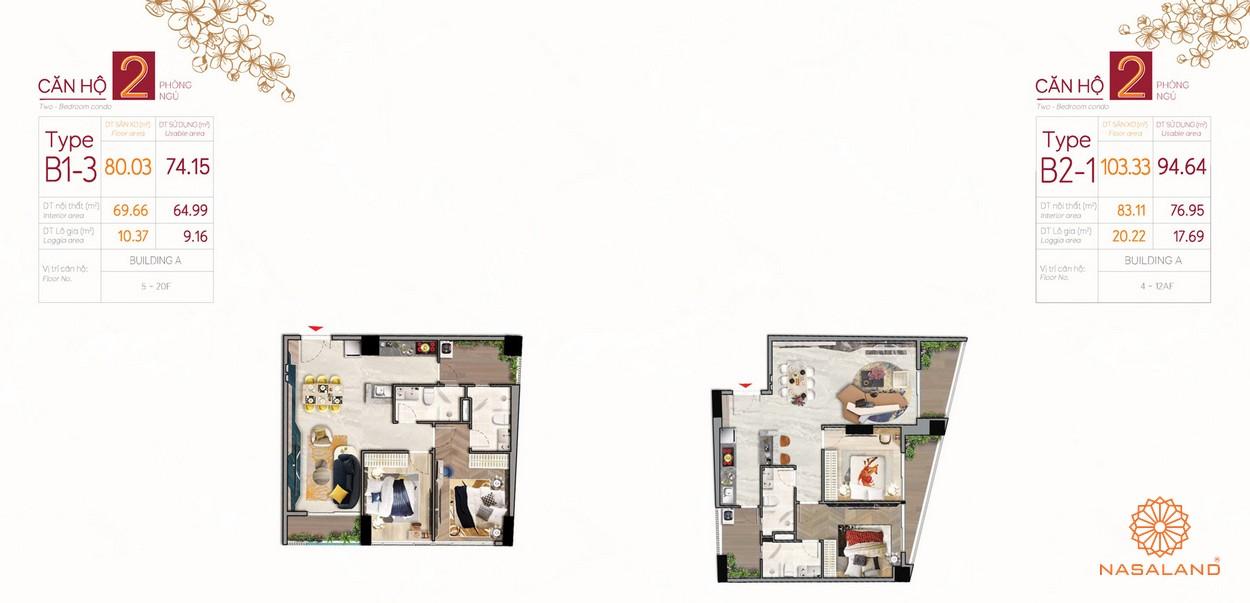 Thiết kế mẫu căn hộ 2 phòng tại dự án The Peak Phú Mỹ Hưng