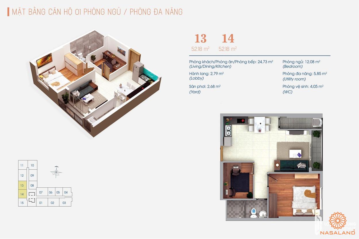 Thiết kế dự án căn hộ 2PN tại Viva Plaza