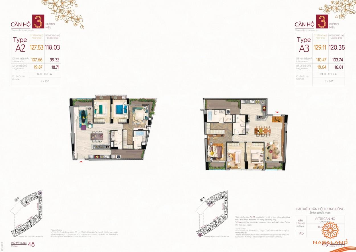 Thiết kế mẫu căn hộ 3 phòng tại dự án The Peak Phú Mỹ Hưng