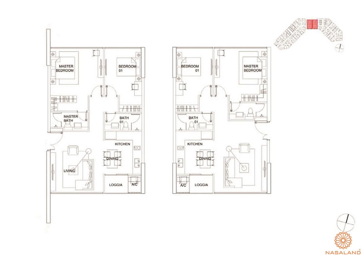 Thiết kế căn hộ 1 PN dự án Charmington Dragonic quận 5