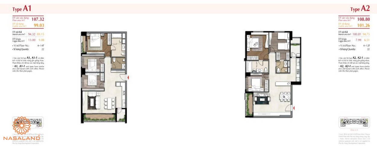 Thiết kế căn hộ tại dự án The Ascentia quận 7