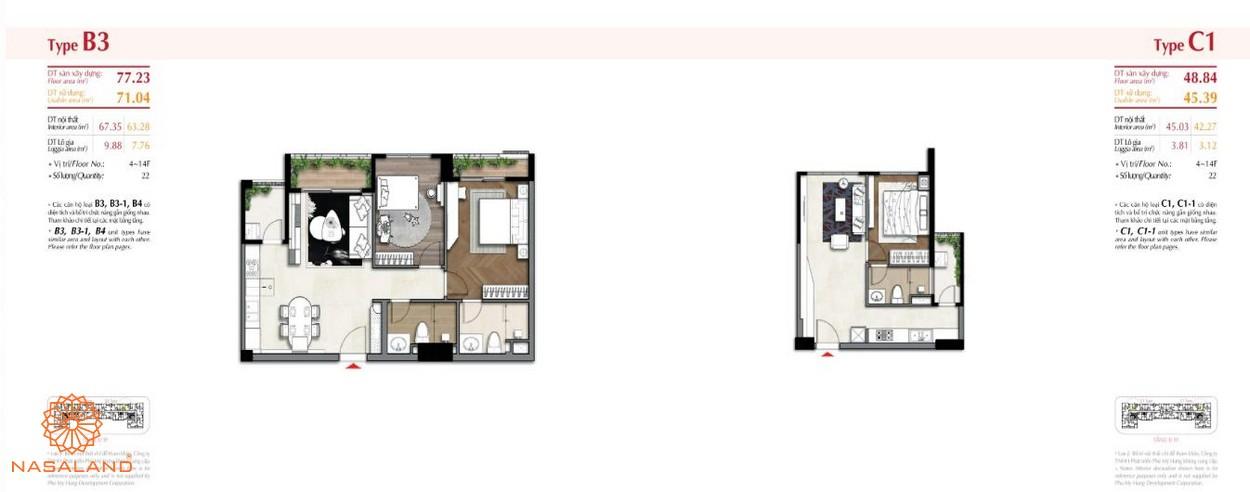 Thiết kế 2 căn hộ tại dự án The Ascentia quận 7