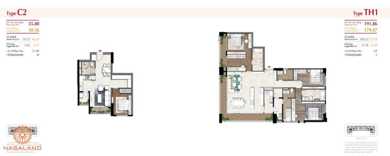 Thiết kế căn hộ tại dự án The Ascentia Phú Mỹ Hưng