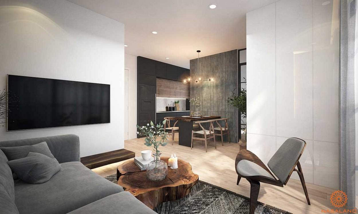 Thiết kế phòng khách căn hộ King Crown Infinity Thủ Đức