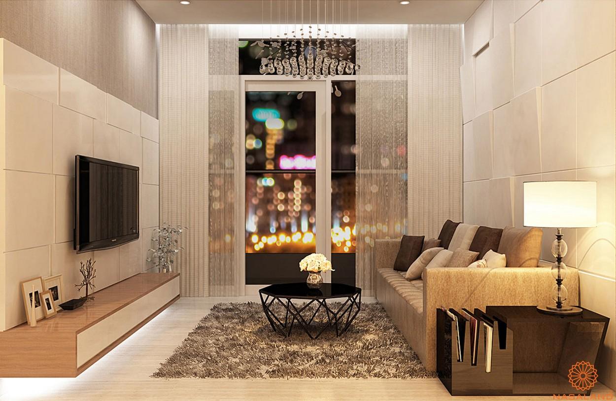 Thiết kế căn hộ Lux Star quận 7 bancol view hướng về thành phố