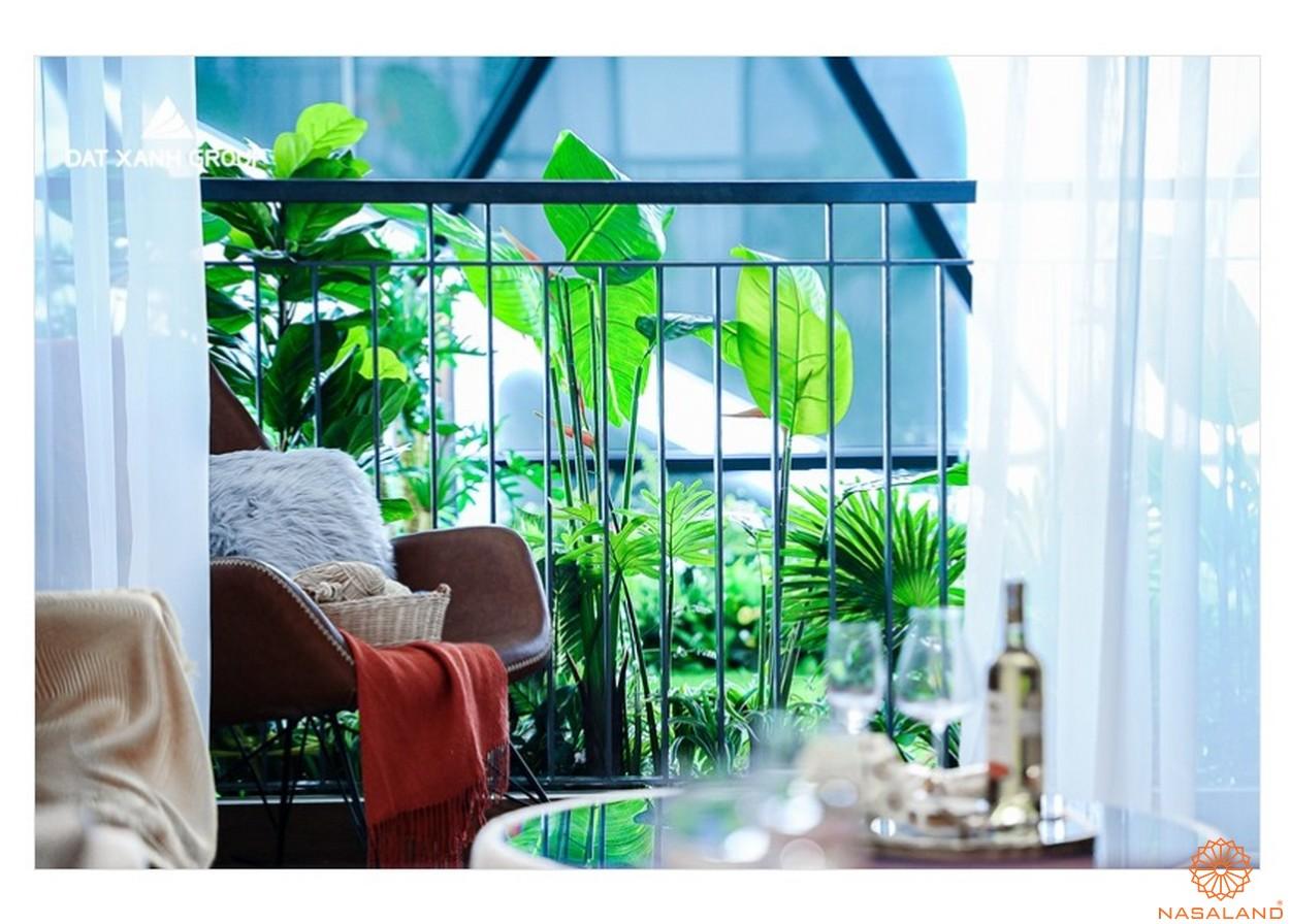 Thiết kế căn hộ Opal Central Park Bình Dương với balcon xanh