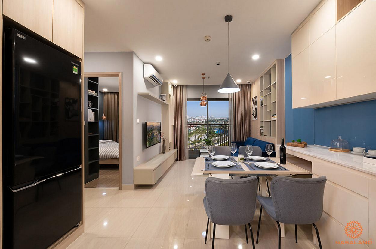 Minh họa thiết kế căn hộ The Origami 2 phòng ngủ