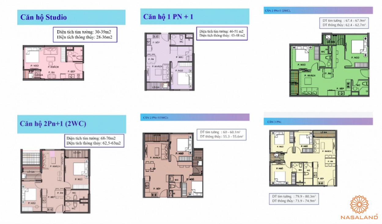 Thiết kế căn hộ The Origami linh hoạt