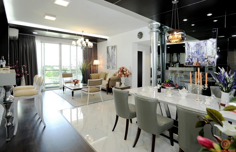 Thiết kế phòng khách sang trọng dự án căn hộ Riverpark Premier quận 7