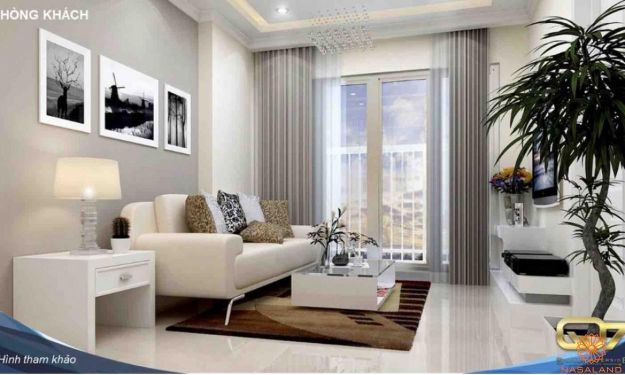 Thiết kế phòng khách Saigon Riverside Complex quận 7