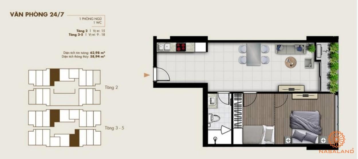 Thiết kế văn phòng tại dự án diện tích lớn
