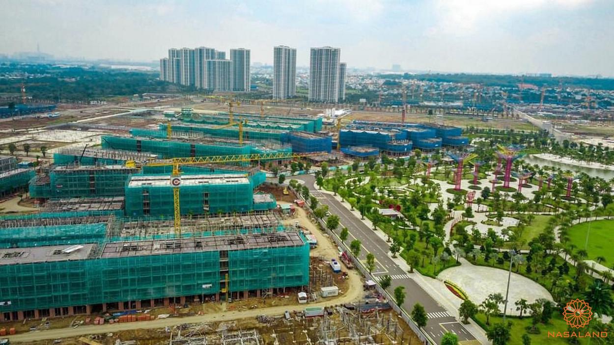 Tiến độ xây dựng khu thấp tầng Vinhomes Grand Park tháng 9