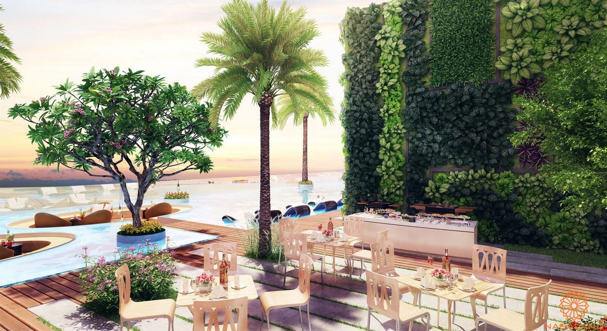 Cafe và vườn nướng BBQ dự án căn hộ River Panorama quận 7