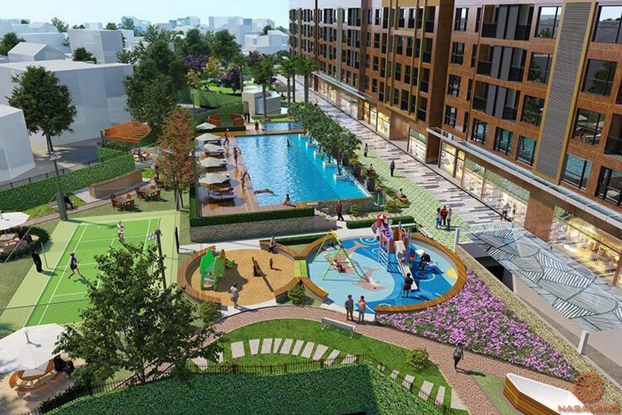 Tiện ích hồ bơi dự án căn hộ Đức Long Golden Land quận 7