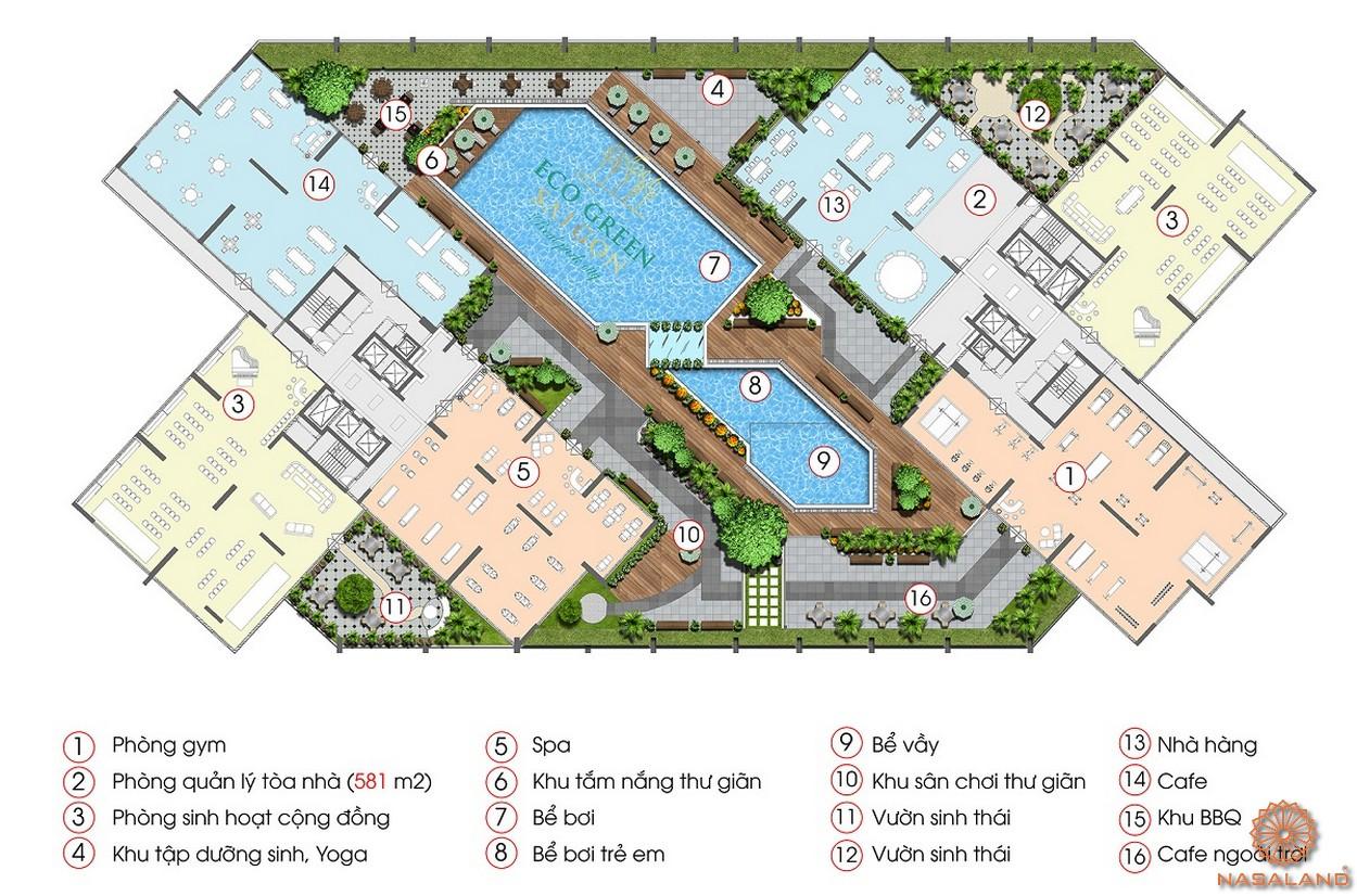 Tiện ích nội khu của dự án căn hộ chung cư Eco Green Sài Gòn quận 7