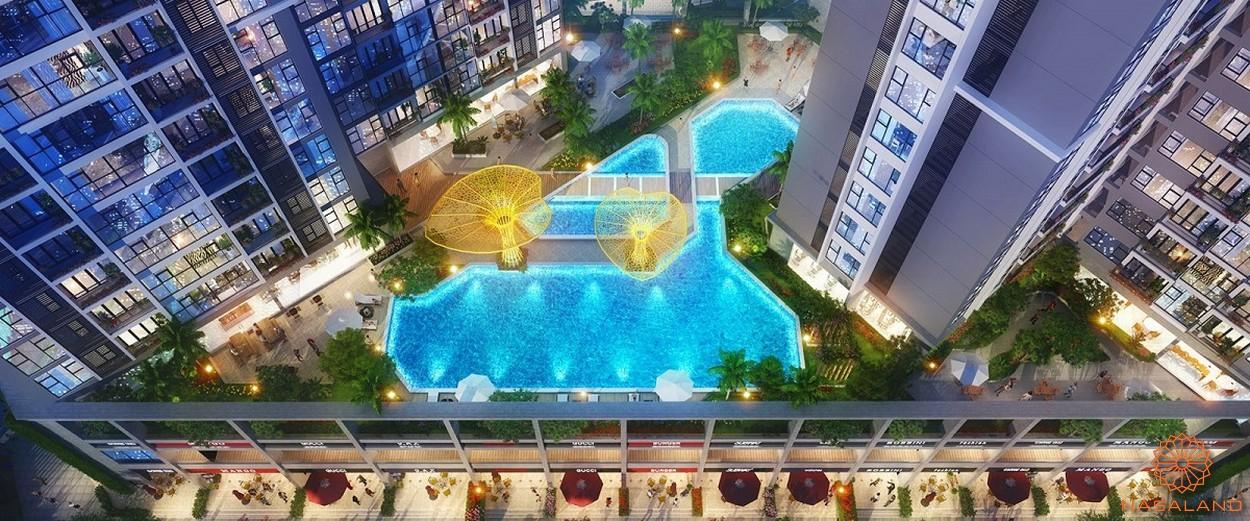 Hồ bơi vô cực tại căn hộ dự án Eco Green Sài Gòn quận 7