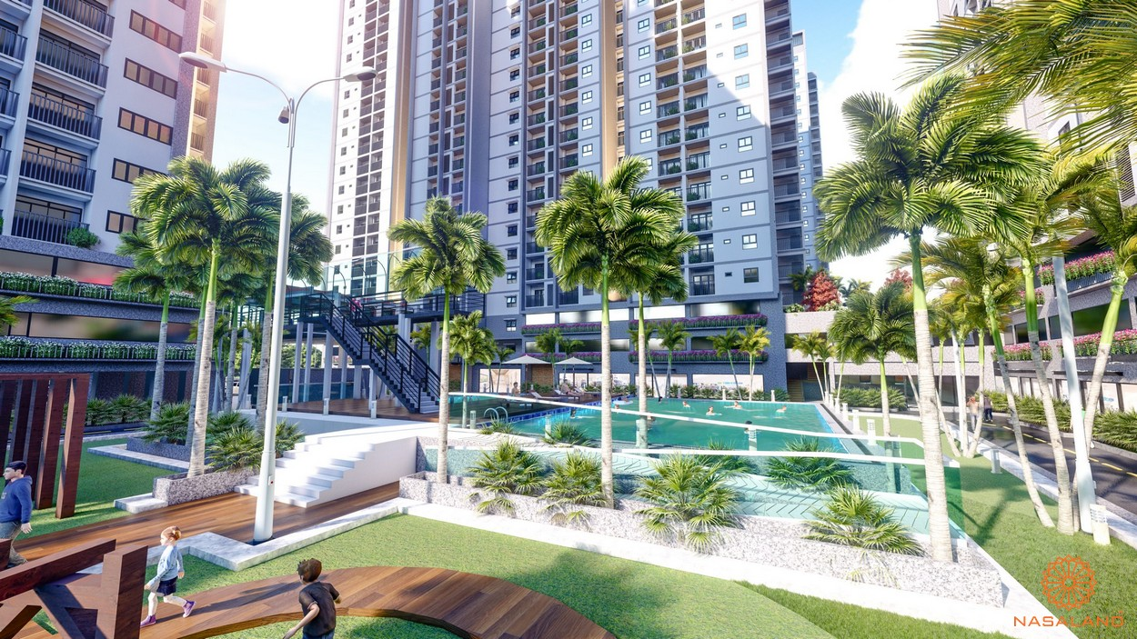 Tiện ích căn hộ Eco Xuân Sky Residences Bình Dương - hồ bơi